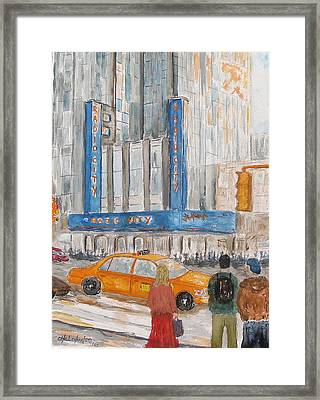 Radio City Ny Framed Print