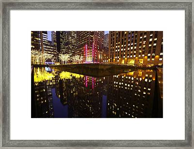 Radio City Reflection Framed Print