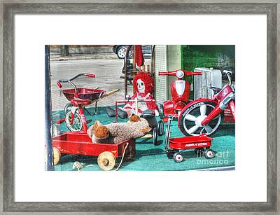 Radio Flyer Framed Print by David Bearden