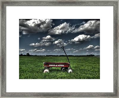 Radio Flyer Framed Print by Jane Linders