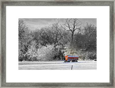 Radio Flyer Framed Print by Julie Lueders