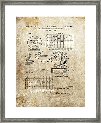 Radio Frequency Measuring Device Patent Framed Print