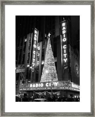 Radio Glow Black And White Framed Print by Francis Flatley