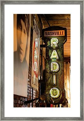 Radio Nashville Sign Framed Print