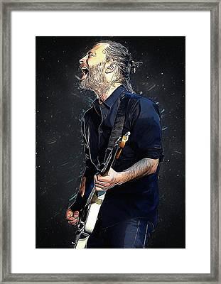 Radiohead - Thom Yorke Framed Print