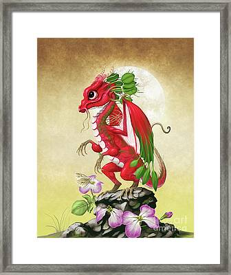 Radish Dragon Framed Print