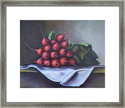 Radishes From The Garden Framed Print