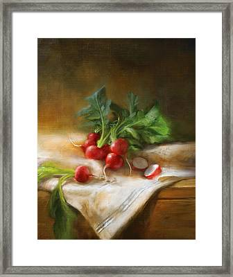 Radishes Framed Print by Robert Papp