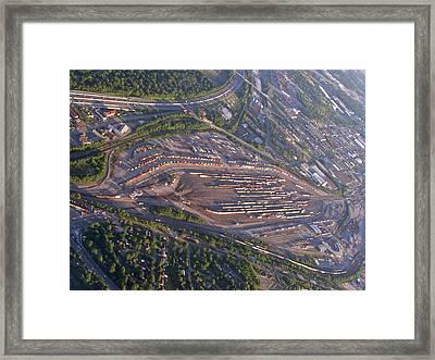 Radnor Rail Yard - 1 Framed Print by Randy Muir