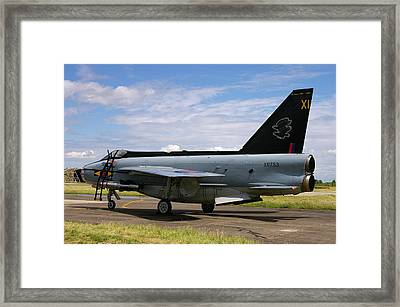 Framed Print featuring the photograph Raf English Electric Lightning F6 by Tim Beach
