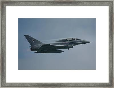 Framed Print featuring the photograph Raf Eurofighter Typhoon T1  by Tim Beach