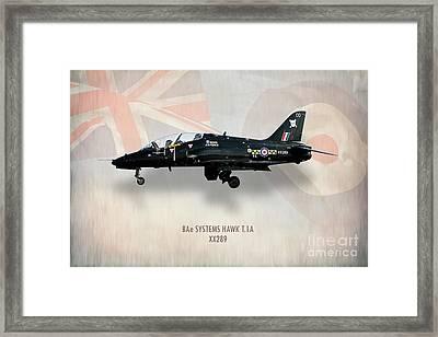 Raf Hawk T.1a Xx289 Framed Print