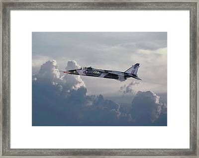 Framed Print featuring the photograph Raf Jaguar Gr1 by Pat Speirs