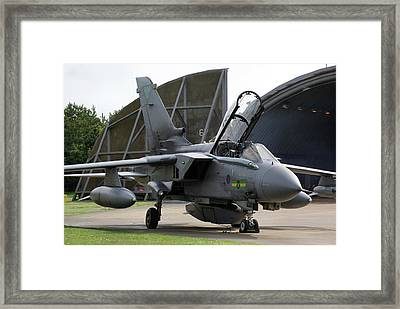 Framed Print featuring the photograph Raf Panavia Tornado Gr4 by Tim Beach