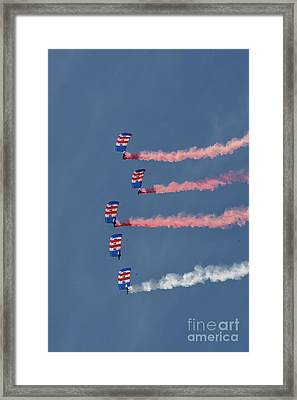 Raf Parachute Display Team Framed Print by Nichola Denny
