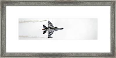 Raf Scampton 2017 - F-16 Fighting Falcon On White Framed Print