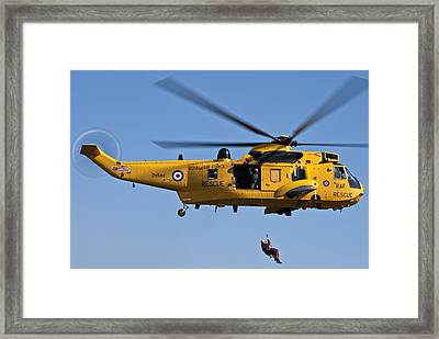 Raf Sea King Search And Rescue Helicopter 2 Framed Print