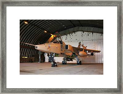 Framed Print featuring the photograph Raf Sepecat Jaguar Gr3a by Tim Beach