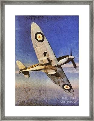 Raf Spitfire, Wwii Framed Print by Esoterica Art Agency
