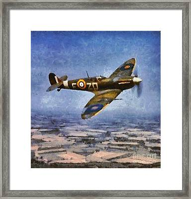 Raf Spitfire, Wwii Framed Print by Mary Bassett