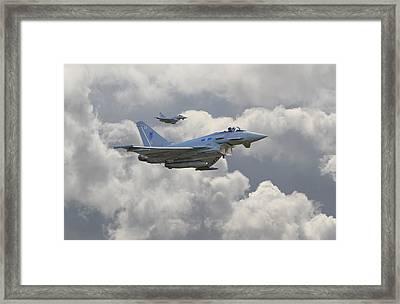 Raf Typhoons Framed Print