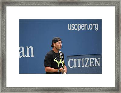 Framed Print featuring the photograph Rafael Nadal by David Grant