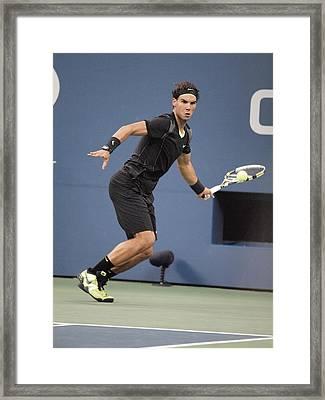 Rafael Nadal In Attendance For Us Open Framed Print