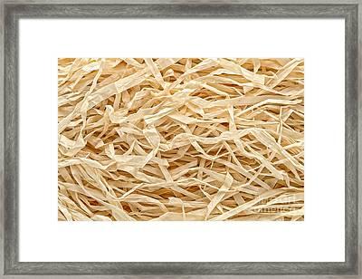 Raffia Framed Print by Olivier Le Queinec