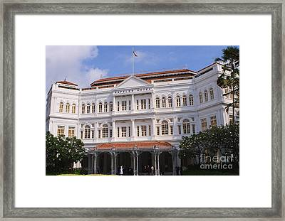 Raffles Hotel - Singapore Framed Print by Pete Reynolds