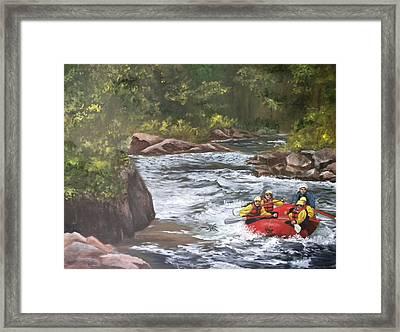 Rafting In Colorado Framed Print