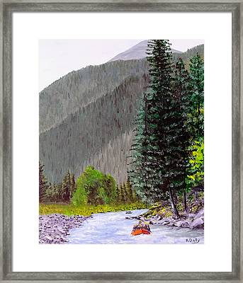 Rafting The Gallatin Framed Print