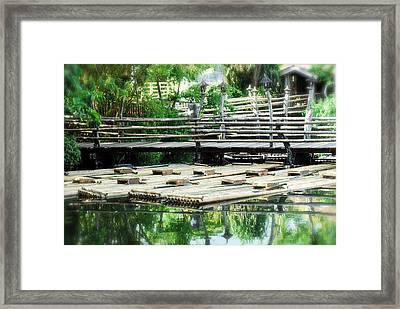 Rafts At Rest Framed Print