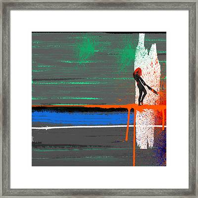 Rage Framed Print by Naxart Studio