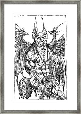 Rage Of An Angel Framed Print by Alaric Barca