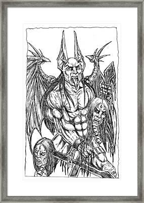 Rage Of An Angel Framed Print