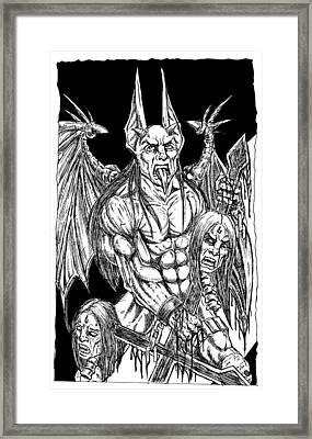 Rage Of An Angel Black Framed Print