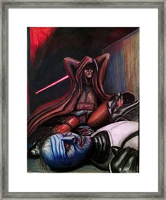 Rage Of The Jedi Framed Print