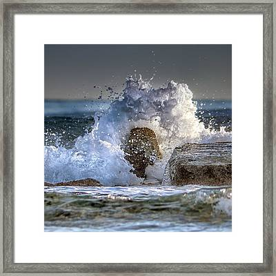 Rage Of The Sea Framed Print by Stelios Kleanthous
