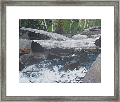 Framed Print featuring the painting Ragged Falls by Betty-Anne McDonald