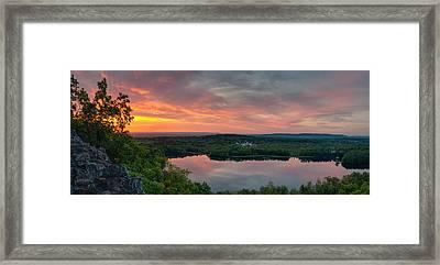 Ragged Mountain Sunrise Framed Print
