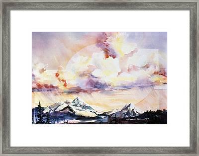 Ragged Mountains Sunset Framed Print