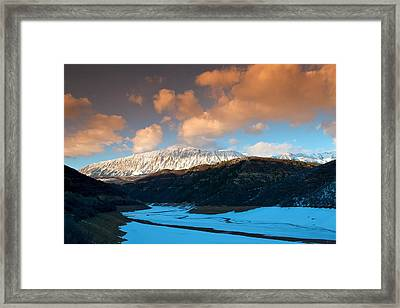 Ragged Peak Framed Print
