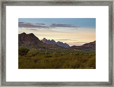 Ragged Top First Light Framed Print
