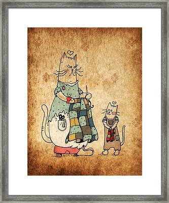 Raggedy Cats--the New Lovie Framed Print by Jayme Kinsey