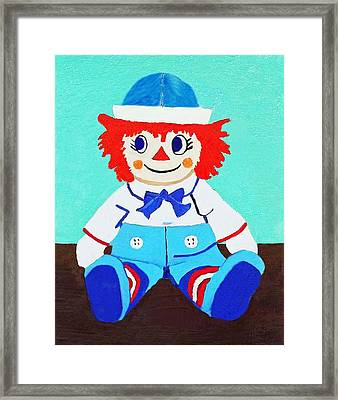 Framed Print featuring the painting Raggy Andy II by Margaret Harmon