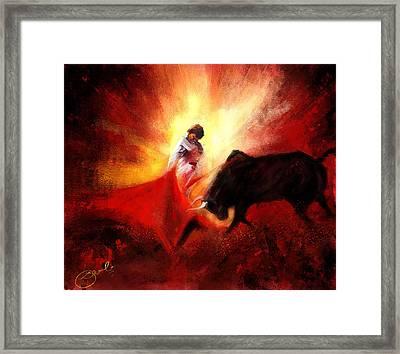Raging Bull Framed Print by Kiran Kumar