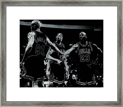 Raging Bulls Framed Print by Brian Reaves
