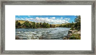 Raging Payette River Framed Print by Robert Bales
