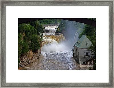 Raging River Framed Print