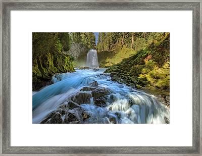 Raging Sahalie Falls Framed Print by David Gn